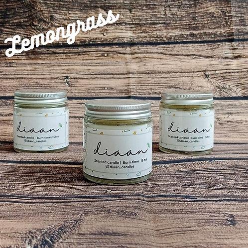 Diaan Lemongrass Glass Jar Candle