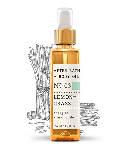 Nature Therapy Lemongrass After Bath + Body Oil