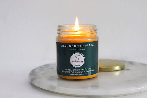 Joyous Beam Cranberry Fiesta  Scented Candle