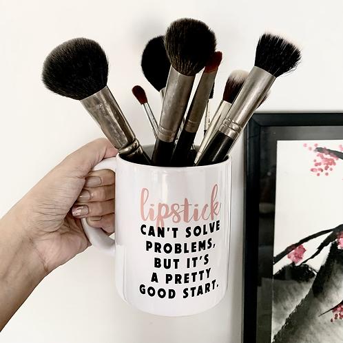 Lipstick Solves Problems Mug