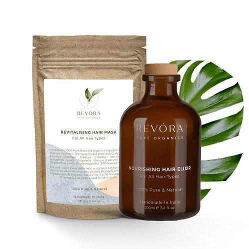Revora Pure Organics Hair Elixir + Mask Combo