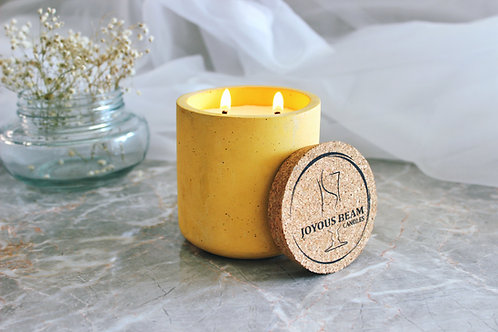 Joyous Beam Oudh and Vanilla - Double Wick Concrete Tumbler Candle