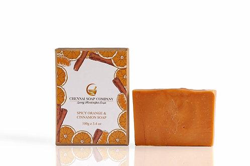 Chennai Soap Company Orange Cinnamon Clove Soap