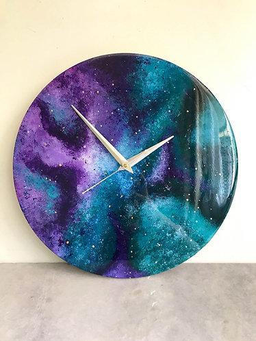 "Rashi Agrawal Art Cosmic Clock 12"""