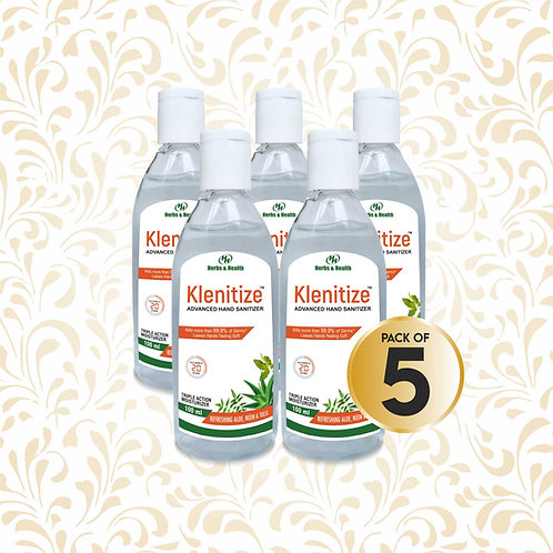 Herbs & Health Klenitize Herbal Hand Sanitizer - 100 ml (Pack of 5)