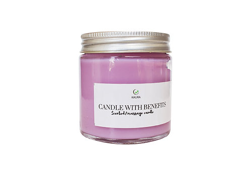 Kaura Rose Candle With Benefits 2 in 1