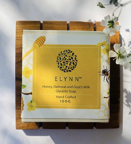 Elynn Queen Cleo's Ritual Honey, Oatmeal & Goat's Milk Soap