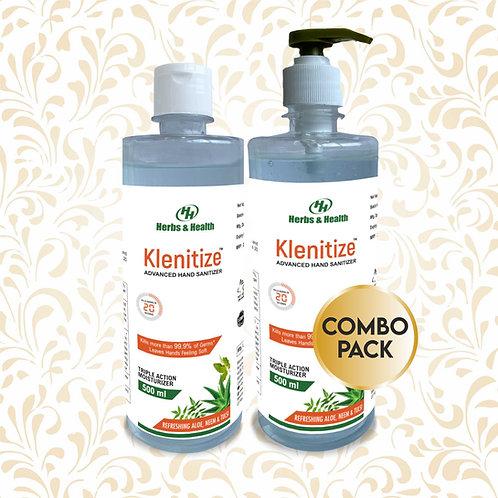 Herbs & Health Klenitize Herbal Hand Sanitizer - 500 ml (Combo)