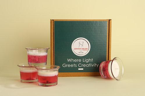 "Joyous Beam  2"" Calming Pink Gel Candle (Set of 4)"