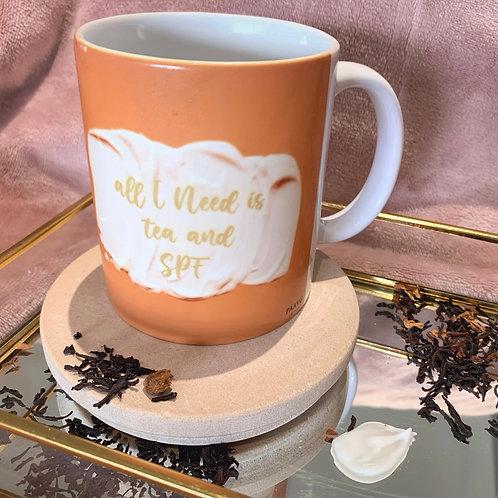 Tea & SPF Brown Mug