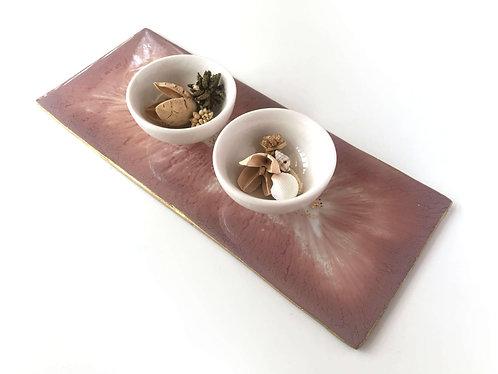 "Rashi Agrawal Art Dusty Purple Platter 10"""