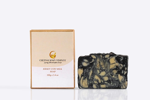 Chennai Soap Company Fresh Cow Milk Butter Soap With Charcoal
