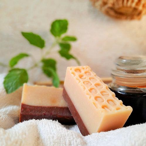 Iktara Honey & Chocolate Organic Cold Processed Soap