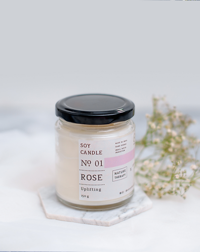 Nature Therapy Rose Soy Candle