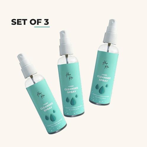 Harkoi Hand Cleanser Spray (Set of 3)