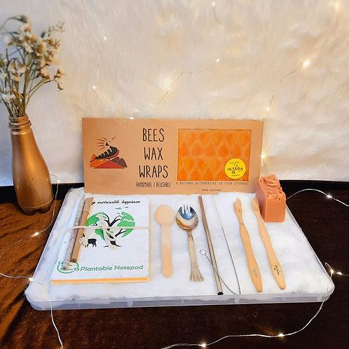 Iktara Eco-Friendly Travel Gift Hamper With Beeswax Wrap