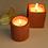 Thumbnail: Joyous Beam Red Concrete Candle (Set of 2)