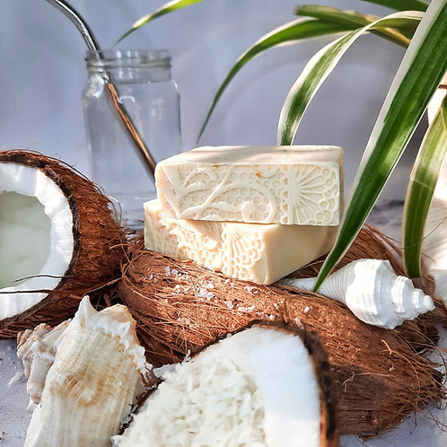 Iktara Coconut Milk Organic Cold Processed Soap (Dry Skin)