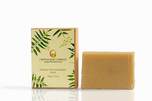 Chennai Soap Company Neem & Wild Turmeric Soap With Aloe Vera