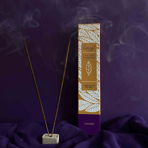 Esscent Lavender Premium Flower-Based Incense Sticks