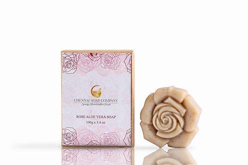 Chennai Soap Company Rose Aloe Vera Soap