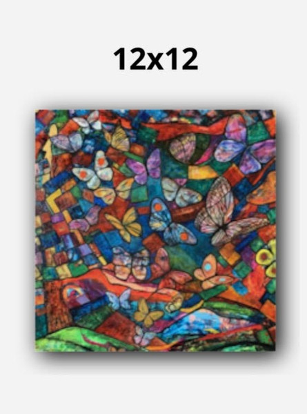 """12"""" x 12"""" Canvas (.75 inch standard wrap, mirror image, wall mount)"""
