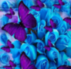 roses-and-purple-butterflies-saundra-myl