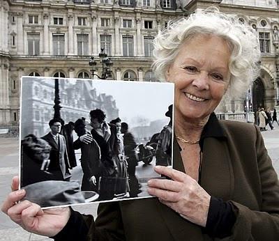 Françoise Bornet com a fotografia que levou a leilão