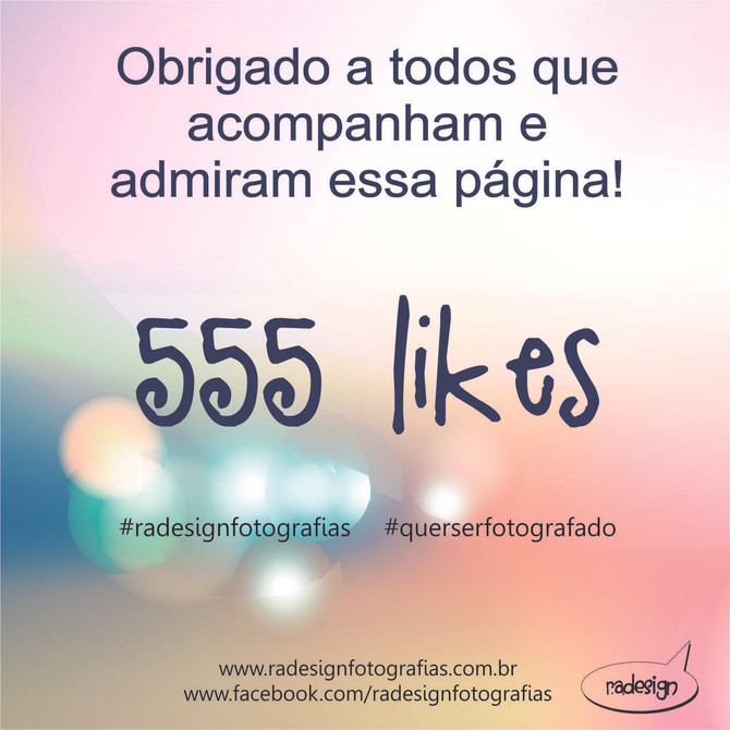 555 curtidas na pagina do Facebook!