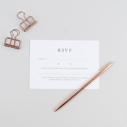 Modern Love RSVP Card