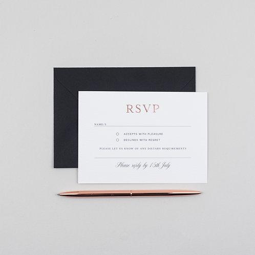 Mon Amour RSVP Card