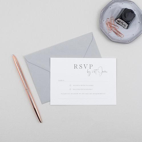 Modern Luxe RSVP Card
