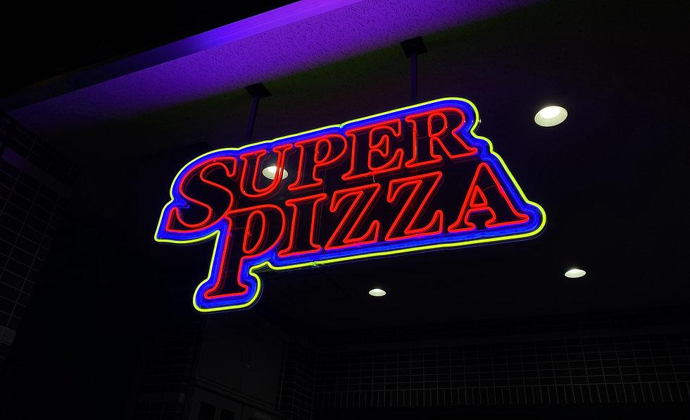 SUPER PIZZA ネオン看板