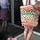 Thumbnail: Colored Cotton woven jute bag