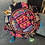 Thumbnail: Indian Patchwork Cushion dark blue