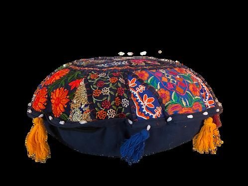 Indian Patchwork Cushion dark blue