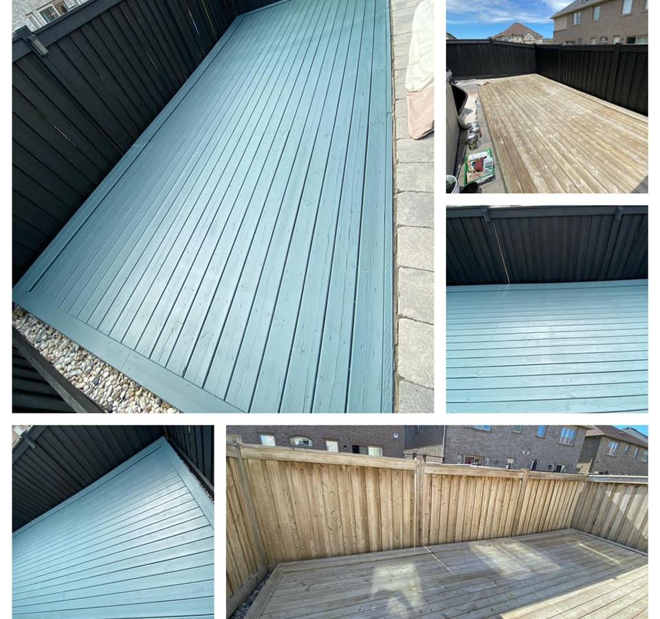 Deck Staining - Burlington