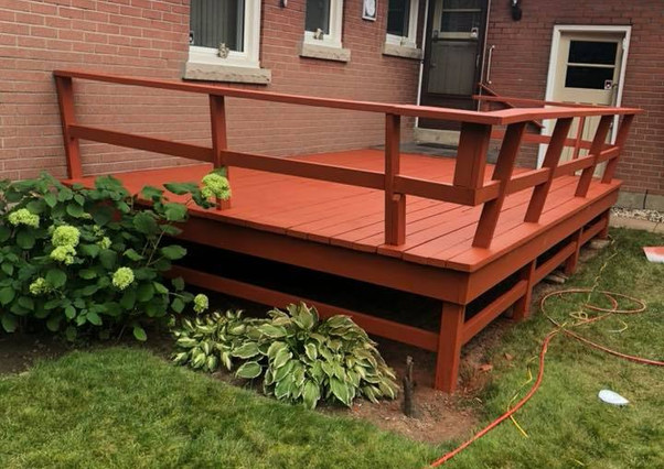 Deck Staining - Burlington