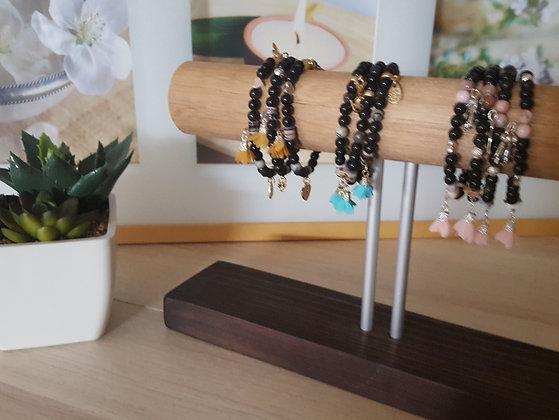 BRACELET Pearls Black