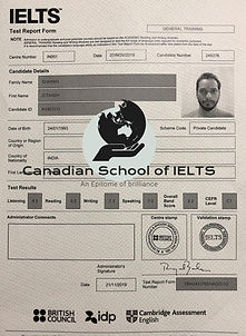 Bst IELTS result of institute