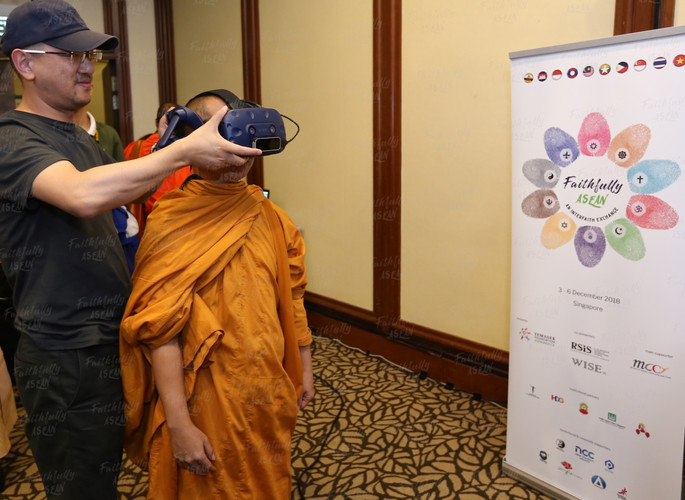 FA participants were 'teleported' to al-Harram Mosque in Mecca; Golden Temple in Amritsar; Sistine Chapel in Vatican City, Maha Bodhi Temple in Bodh Gaya and the Holy Sepulchre in Jerusalem, through the 'Sacred Rendezvous' Mixed Reality portal.