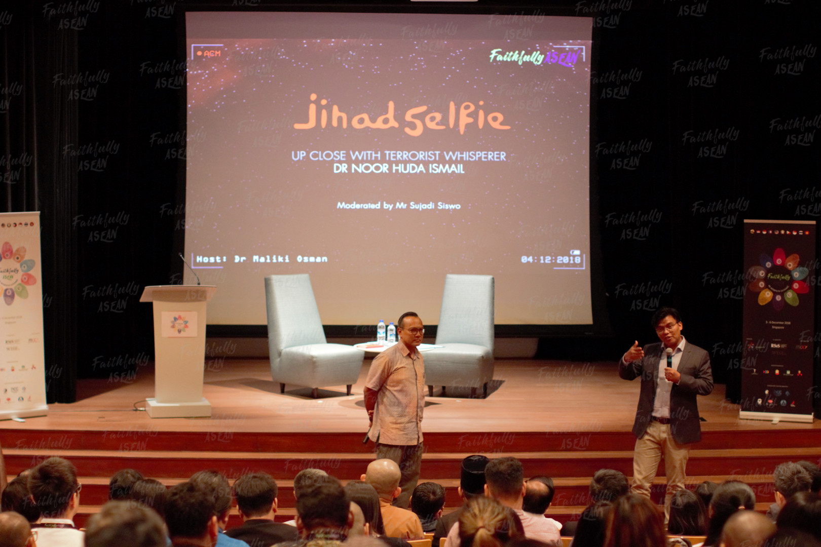 'Jihad Selfie' is an original film documentation by Dr Noor Huda Ismail in his efforts to follow, explore and uncover the allures of the ISIS movement and varying motivations behind aspiring male jihadists, in their desire to join the terror group.  Dr Huda is a visiting fellow at RSIS.  The film screening was supplemented by a forum to help the FA participants better understand the topic and elements relating to radicalisation.
