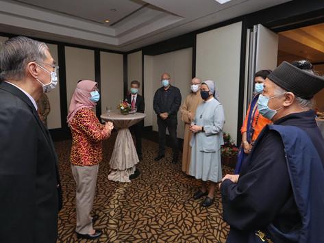 哈莉玛总统吁区域宗教组织积极交流共同抗疫