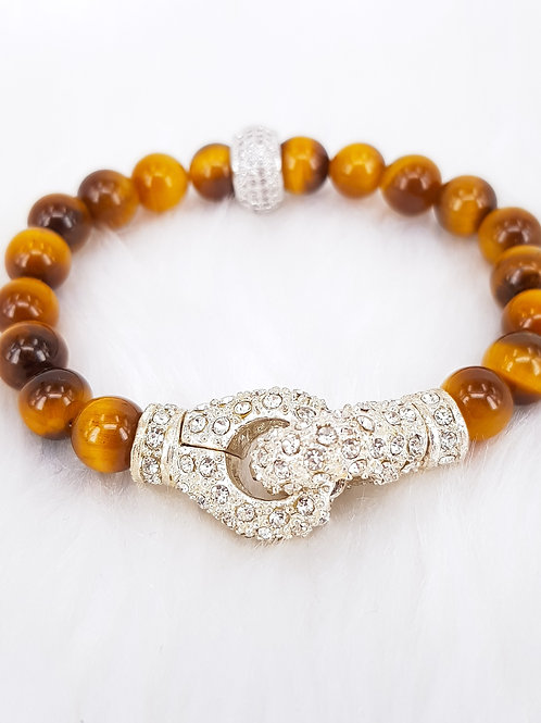 For Protection-Golden Tiger's Eye with Magnetic Clasp