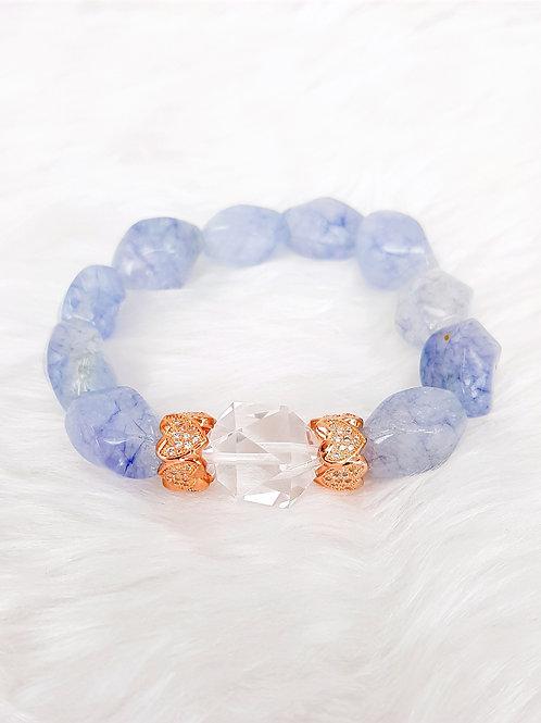 For Calming-Aquamarine & Clear Quartz