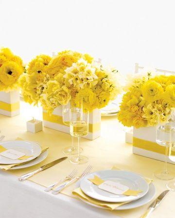 Short Centerpiece in Radiant Yellow