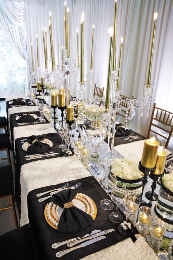 Black & Gold Glam