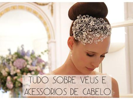 Os acessórios fundamentais de todas as noivas: véus e acessórios para os cabelos