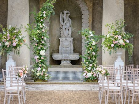 Romantic Modern Outdoor Wedding Ceremony Wotton House