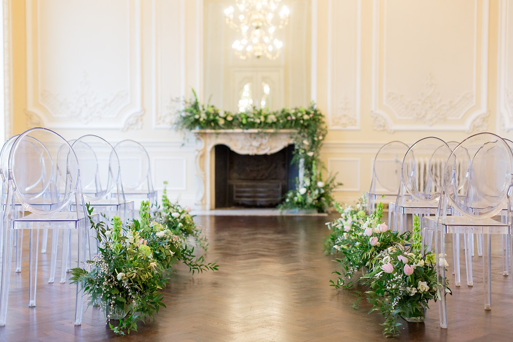 Ailse flowers and Wedding Ceremony Flowers